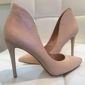 Enzo Angiolini Leather Pumps. Blush, pink